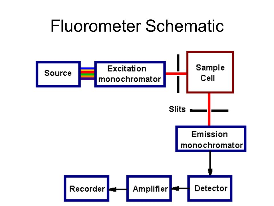 Fluorometer Schematic on Fluorescence Spectroscopy Diagram