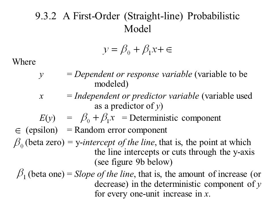 9.3.2 A First-Order (Straight-line) Probabilistic Model