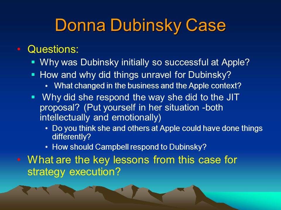 Donna Dubinsky And Apple Computers Essay Sample