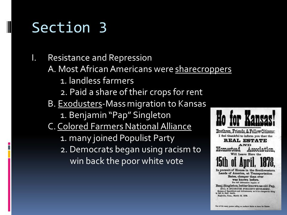 Section 3 Resistance and Repression