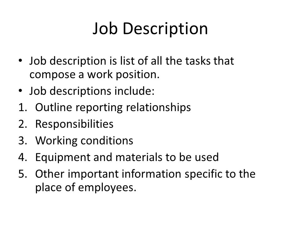 4 Job Description ...