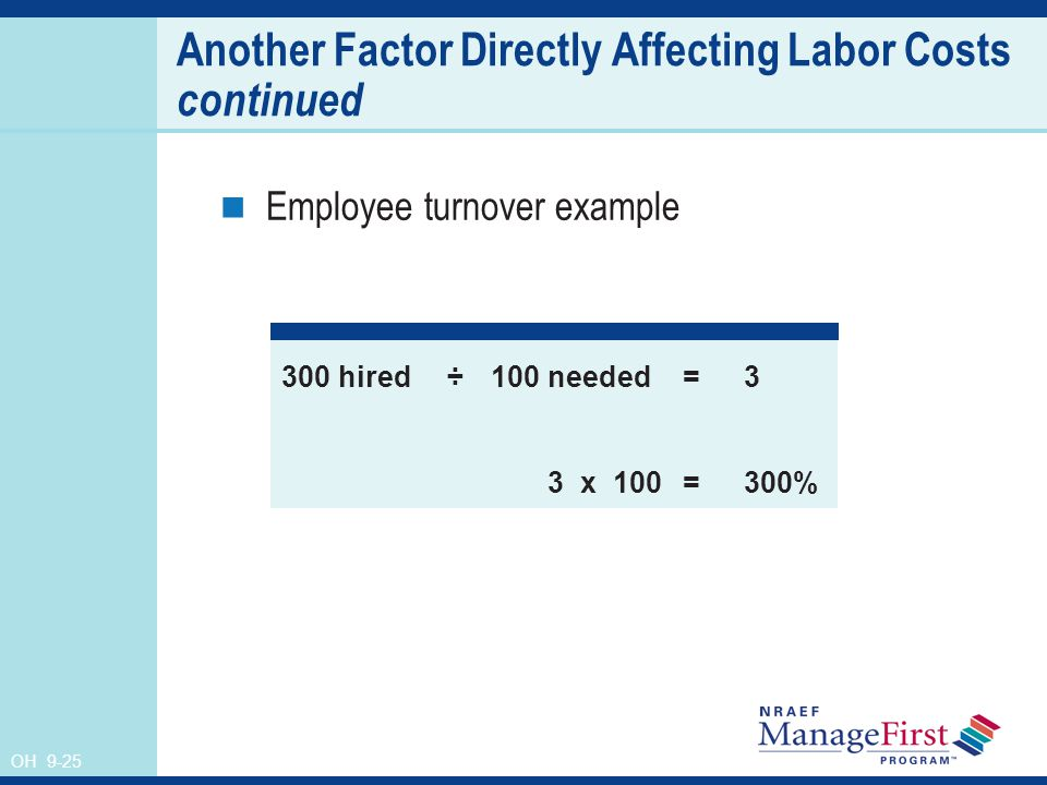 factor contributing to high employee turnover Traditionally high employee turnover and the  the average turnover rate in the restaurant business  of restaurant employees is a major contributing factor.