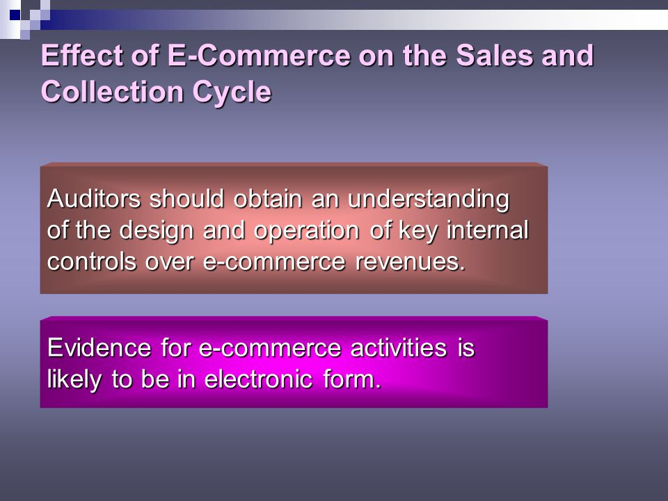 Effect of E-Commerce on the Sales and Collection Cycle