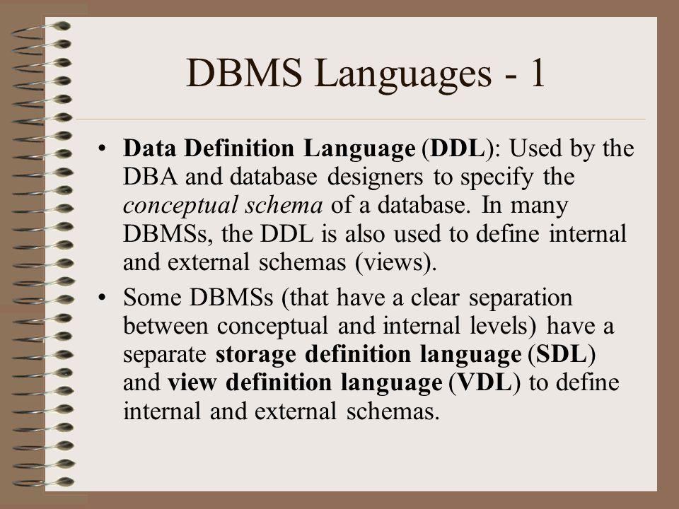 Dbms Languages 1