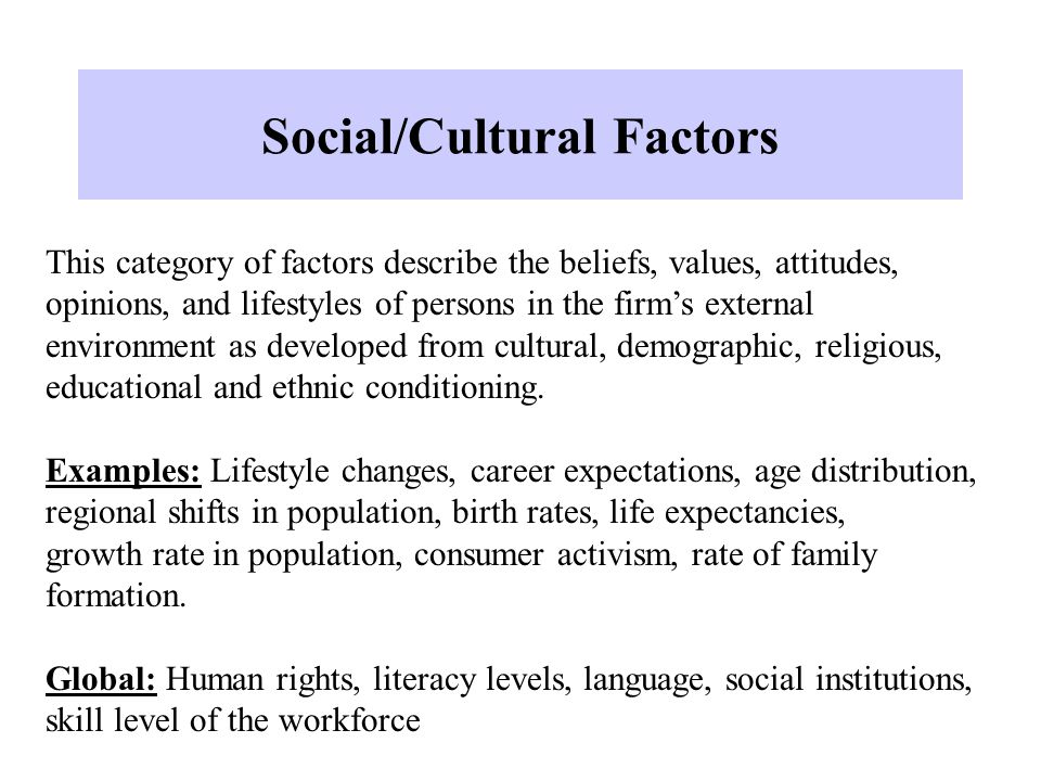 global cultural and social environment The social environment, social context, sociocultural context or milieu refers to the immediate physical and social setting in which people live or in which something happens or develops it includes the culture that the individual was educated or lives in, and the people and institutions with whom they interact.