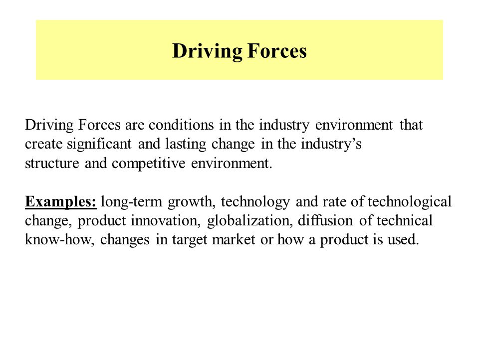 Chapter The Driving Forces of Change