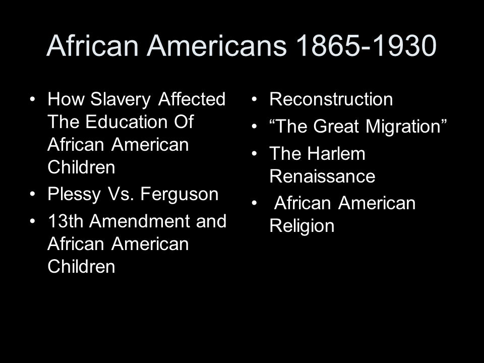effects of reconstruction on african americans