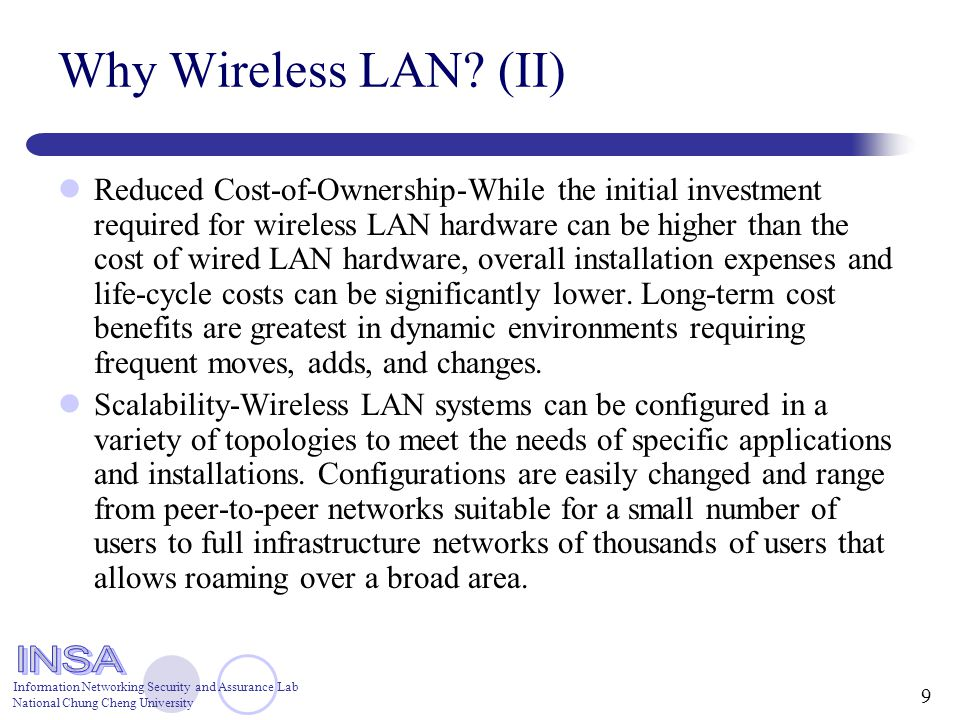 wireless lan benefits and applications This paper addresses the benefits of 80211 wireless lan centralization via the cisco unified wireless network it discusses how centralization of wireless lans (wlans) delivers advanced features and benefits that are easy to deploy,  (for applications like wireless mesh networking .