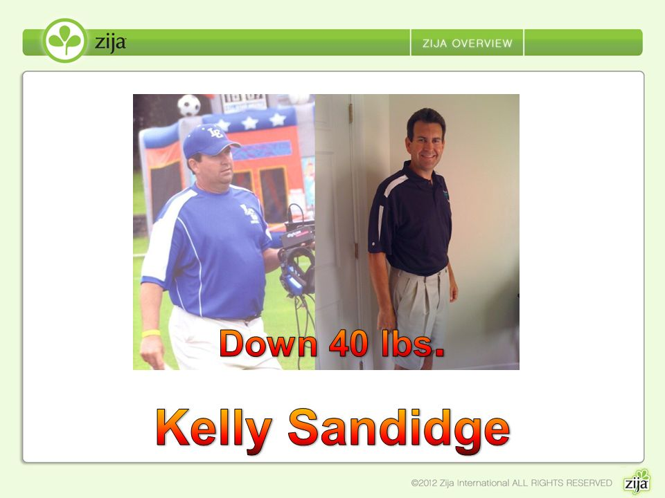 Down 40 lbs. Kelly Sandidge