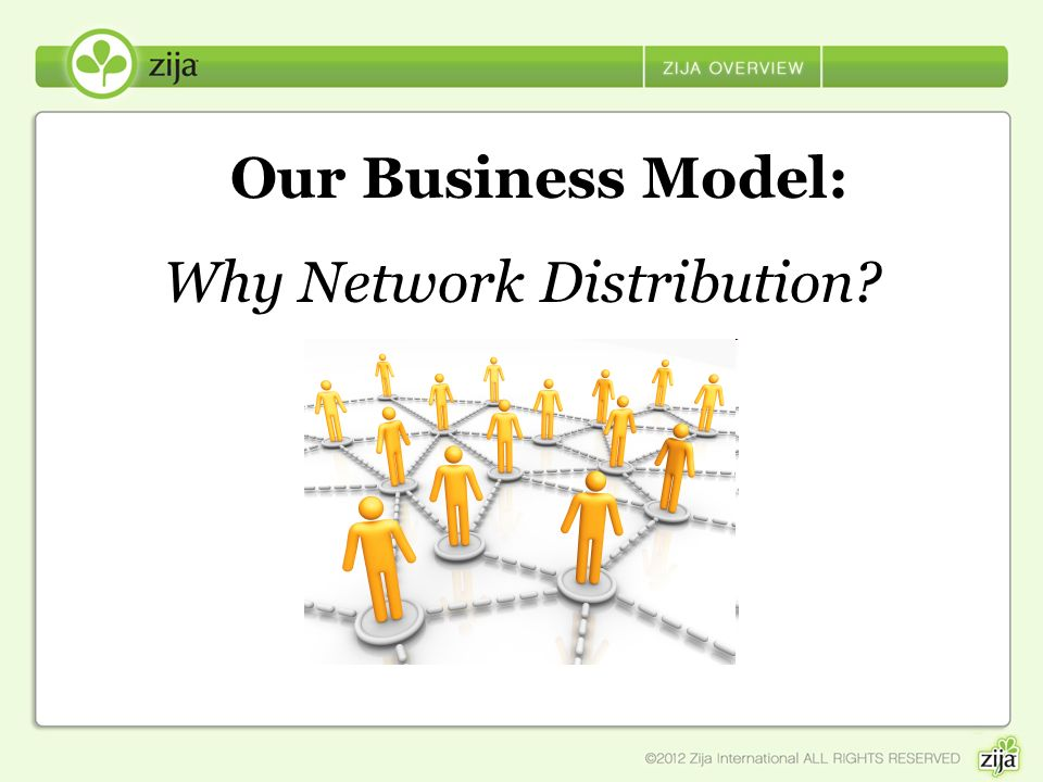 Why Network Distribution