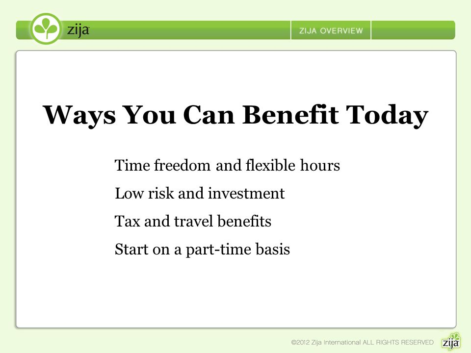 Ways You Can Benefit Today