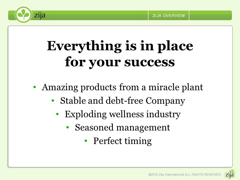 Everything is in place for your success