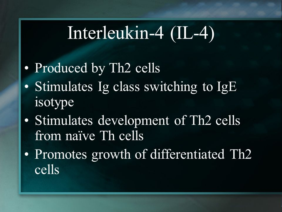 Interleukin-4 (IL-4) Produced by Th2 cells
