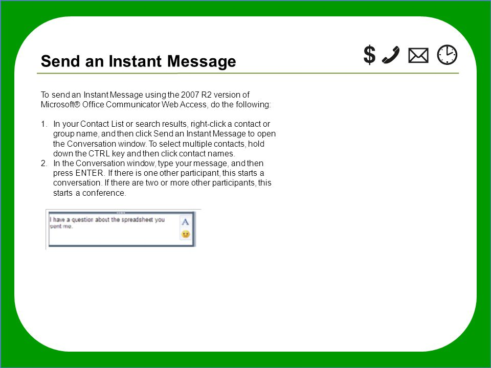 Instant Message People : Cool tips and quick tricks for using microsoft unified