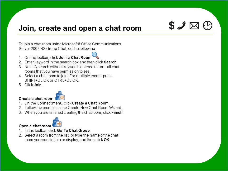 how to join tagged chat room