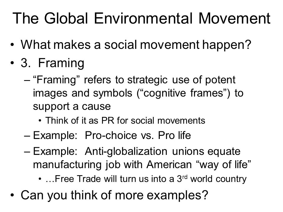 social movements the environmental movement essay Ecofeminism is a joining of environmental, feminist, and women's spirituality   many other contributors directly state that ecofeminism is a social movement (eg   an analysis of the essays in the collection yielded three distinct rhetorical.
