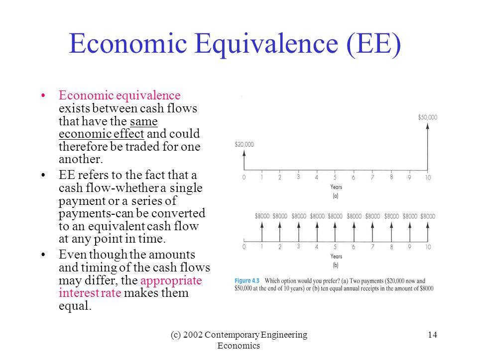 Economic Equivalence (EE)