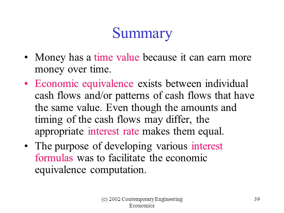 (c) 2002 Contemporary Engineering Economics