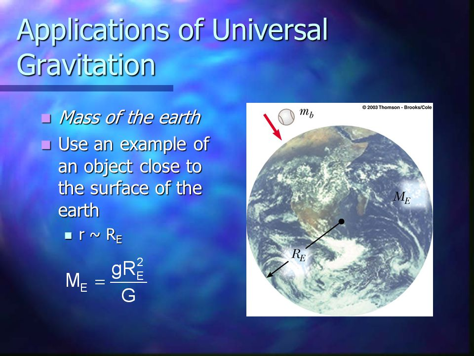 Applications of Universal Gravitation