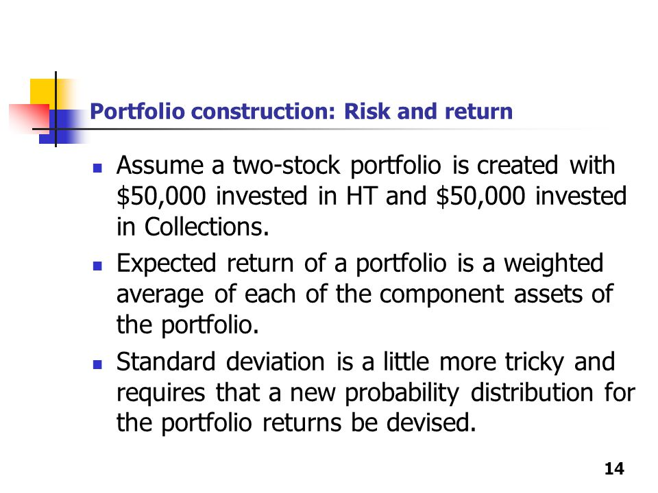 how to calculate portfolio risk and return