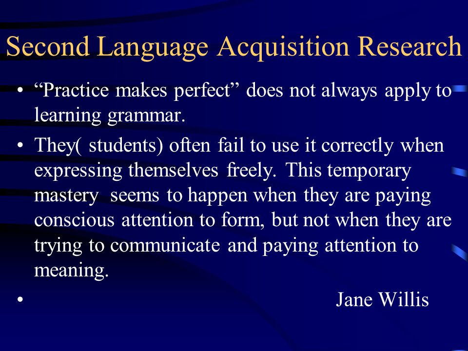 second language acquisition research paper Students' motivation and attitudes towards learning a second language  this paper is a study within the general area of second language acquisition.