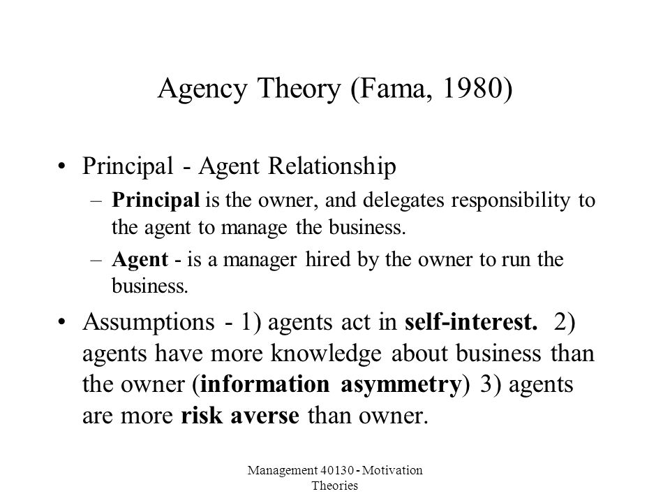 agency relationship and managerial opportunism