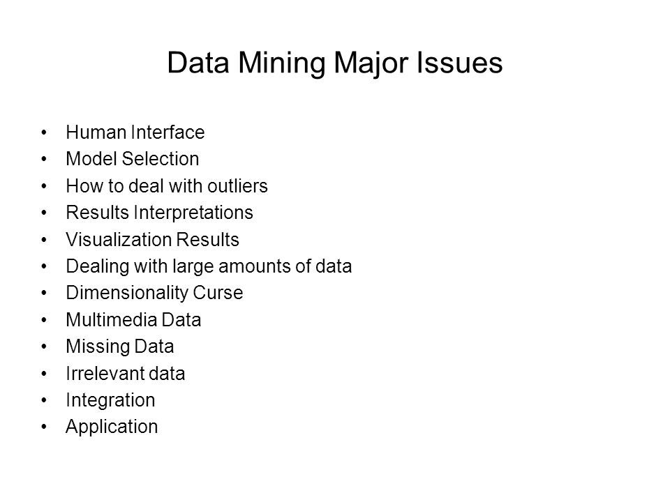 data mining problems Data mining is a useful tool used by companies, organizations and the government to gather large data and use the information for marketing and strategic planning purposes also referred to as knowledge or data discovery, this analytical tool allows its users to gather information and come up with.