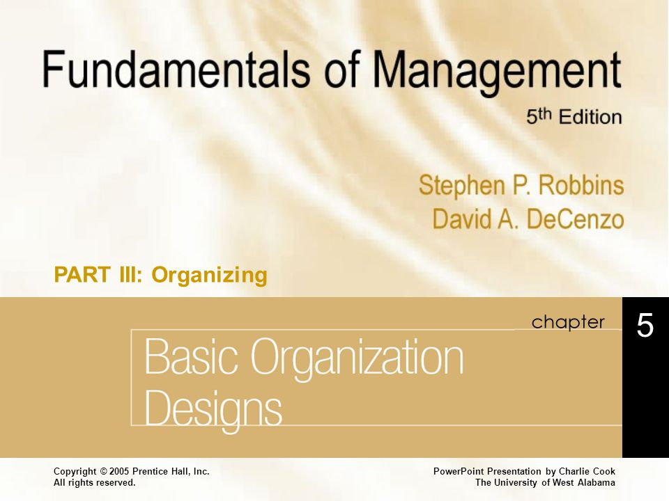 Basic Organization Designs