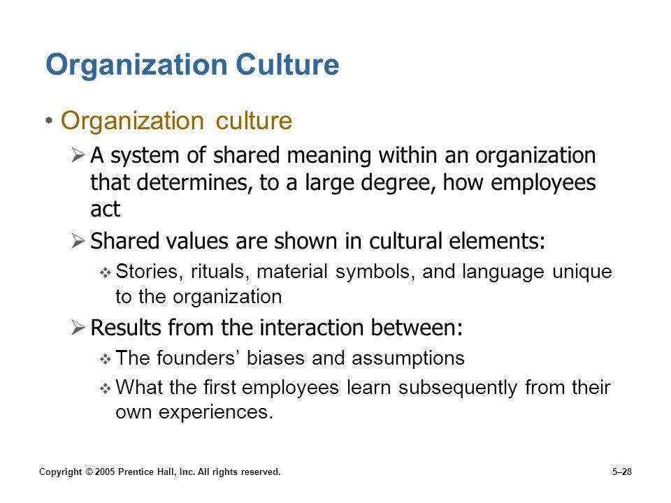 Organization Culture Organization culture