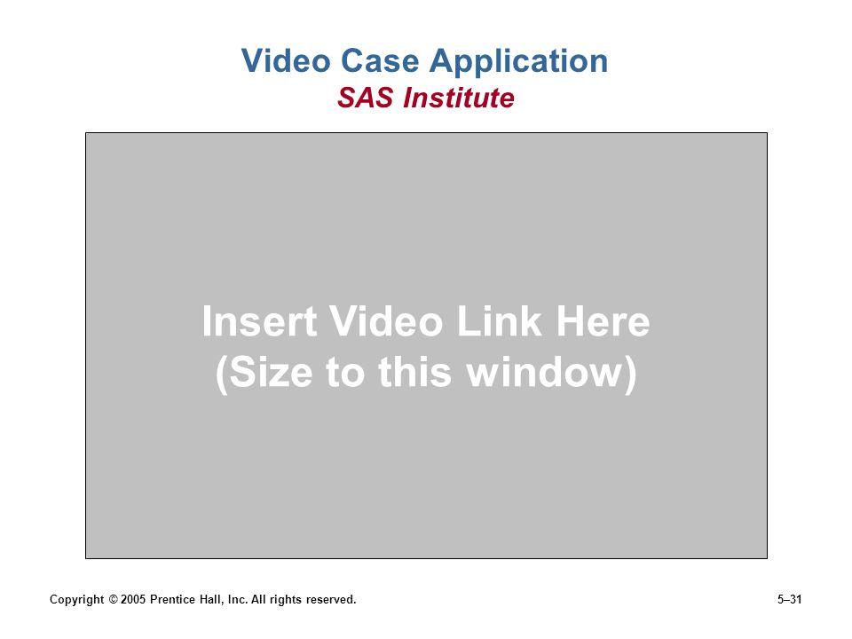 Video Case Application SAS Institute