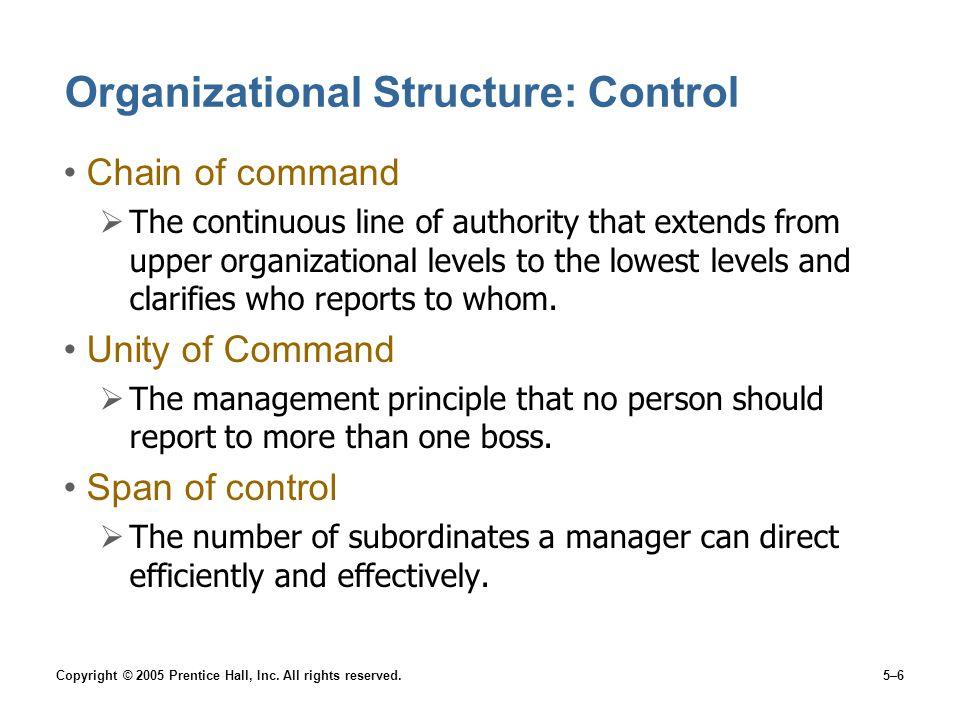 Organizational Structure: Control
