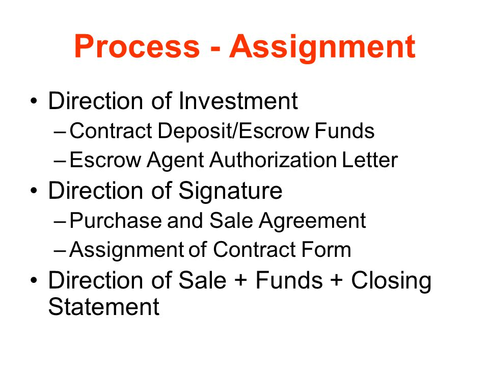 Assignment In Contracts