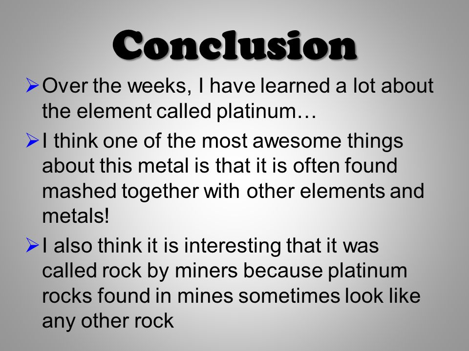 What is Platinum? By Chase Murphy. - ppt video online download