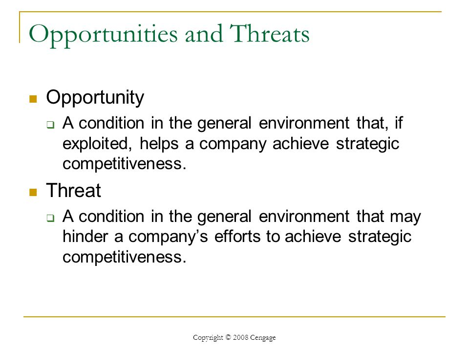 environment threat and opportunity profile That's why robots will continue to affect our daily social and business environment  reserve a profile  threat or opportunity.