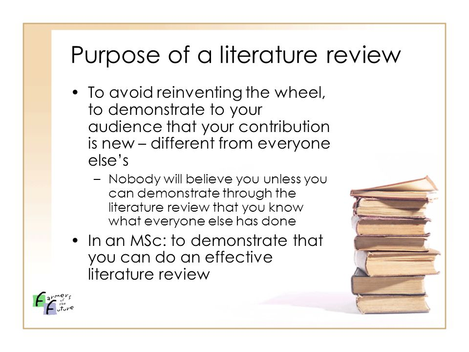 what is the purpose of a literature review paper Establish context by providing a brief and balanced review of the pertinent published literature that is available on the subject the key is to summarize for the reader what is known about the specific research problem before you did your analysis.
