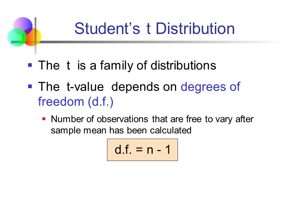 Mathematics statistics ppt video online download for T table 99 degrees of freedom