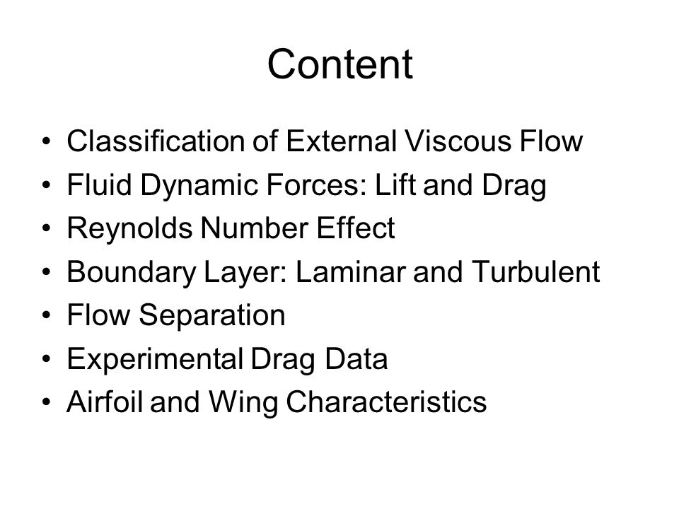 Content Classification of External Viscous Flow