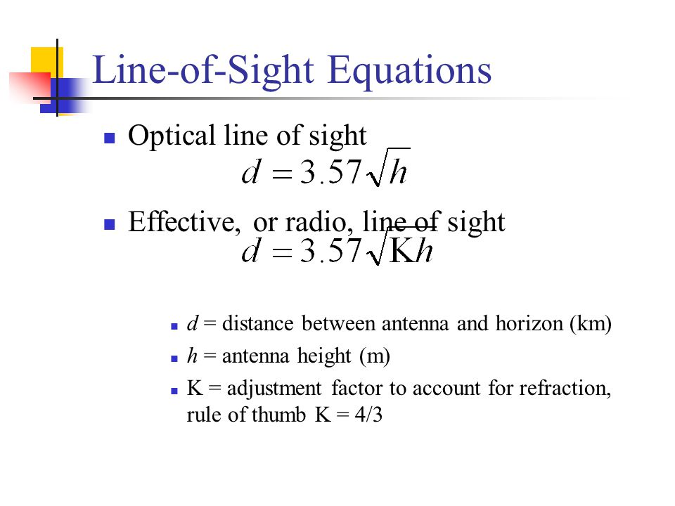 Line-of-Sight Equations