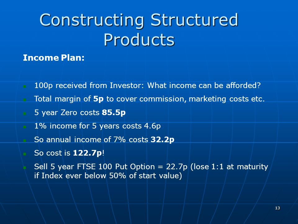 Constructing Structured Products