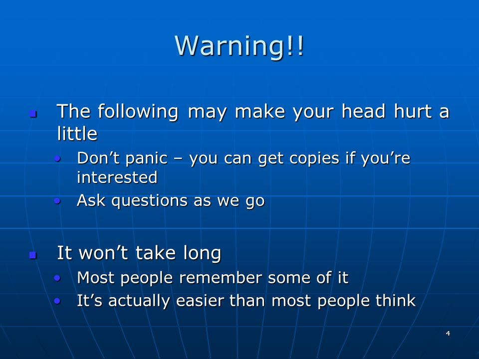 Warning!! The following may make your head hurt a little