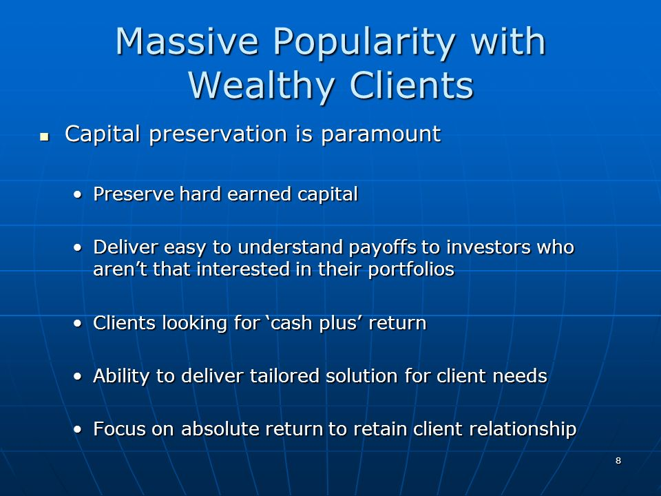 Massive Popularity with Wealthy Clients