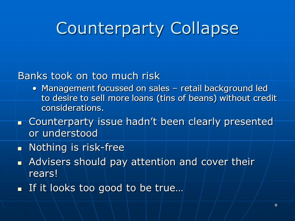 Counterparty Collapse