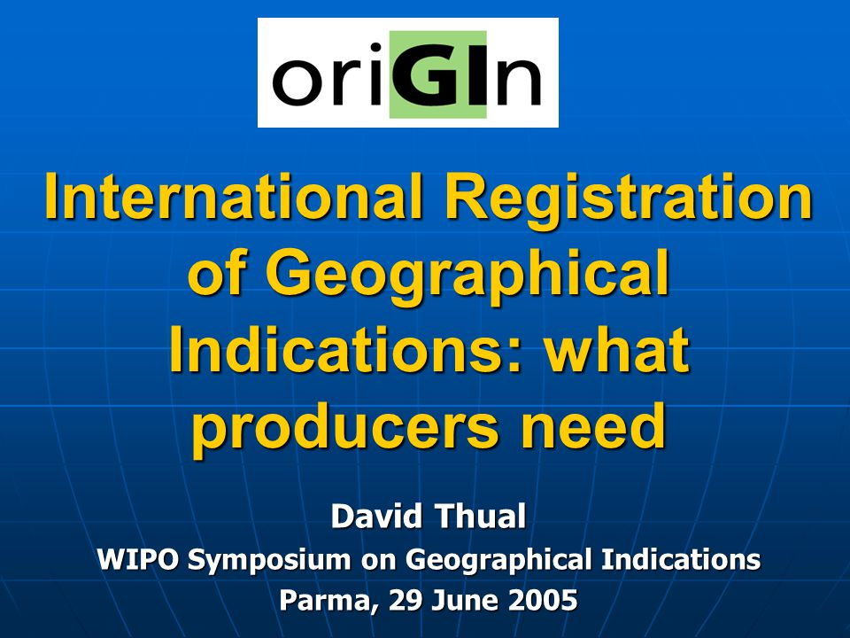 WIPO Symposium on Geographical Indications