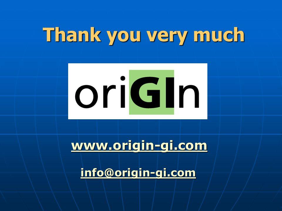 Thank you very much www.origin-gi.com info@origin-gi.com