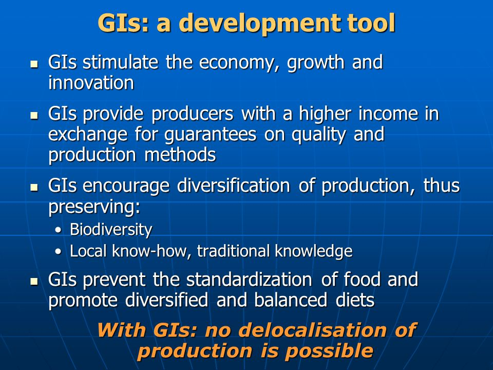 GIs: a development tool
