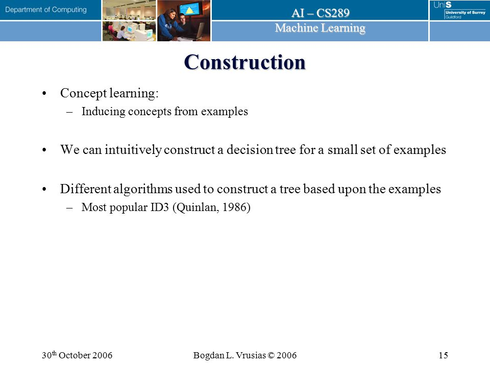 Construction Concept learning: