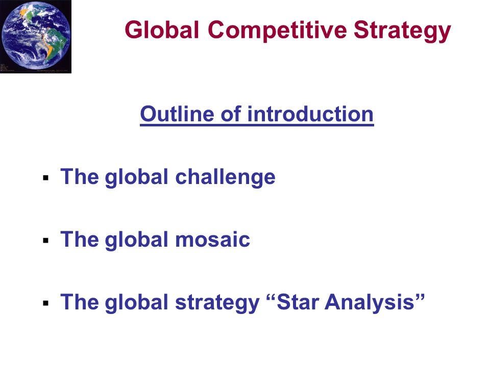 an introduction to the competitive analysis Strategic management articles and summaries presents a framework for competitor analysis an introduction to scenario planning.