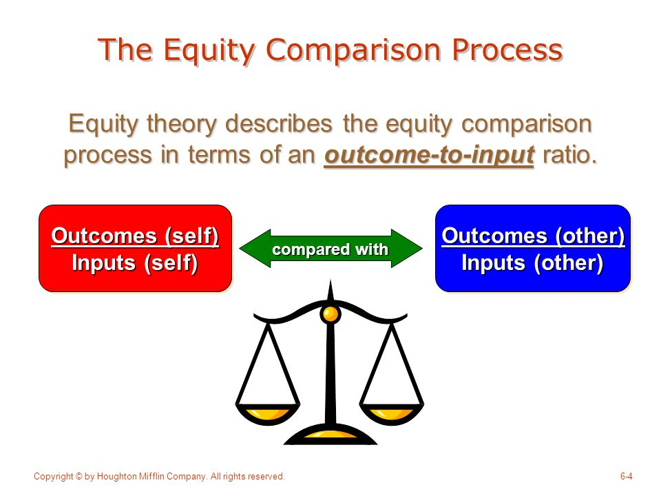 The Equity Comparison Process