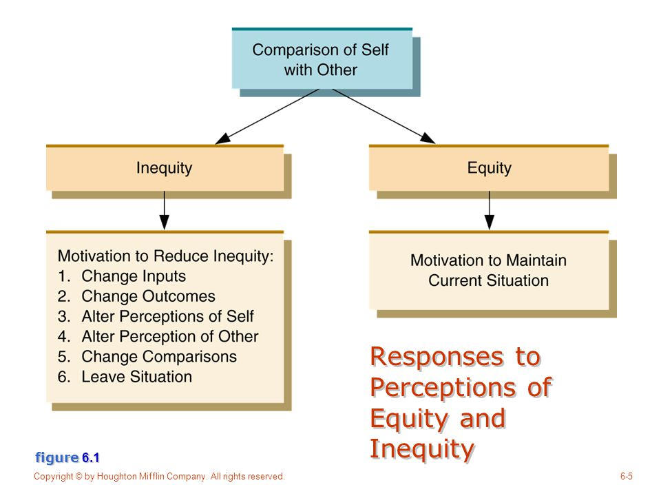 Responses to Perceptions of Equity and Inequity