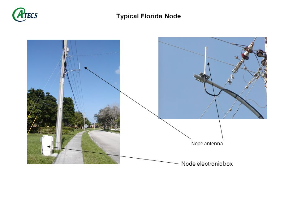 Typical Florida Node Node antenna Node electronic box